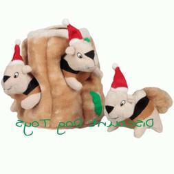 Outward Hound Kyjen Christmas Holiday Hide A Squirrel Santa