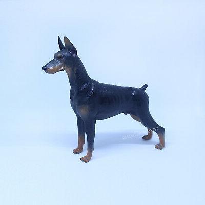 1 6 scale small dobermann dog model