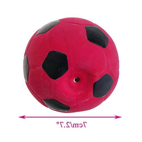 Chiwava 3PCS 2.7'' Latex Dog Toy Football Chew Fetch Throw Ball for Dogs Assorted Color