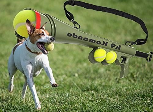 Dog Ball 2 Squeaky Pet Toy Ball Thrower - Automatic Blast
