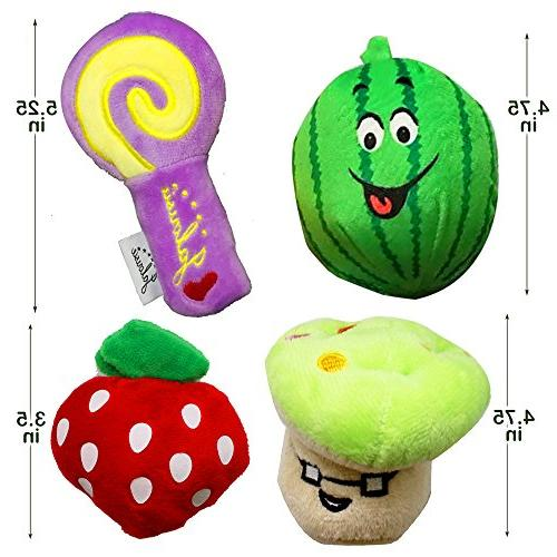 Jalousie Pack Dog Squeaky Toys Toys for Dog