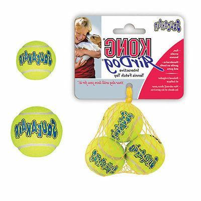 air kong dog squeaker tennis balls bouncy