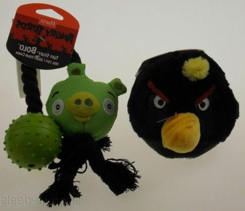 angry birds dog toys set 2 black