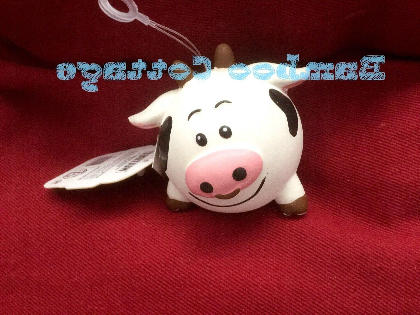Multipet Animal Ball Latex Squeakeable Dog Toy Ani-ball Cow