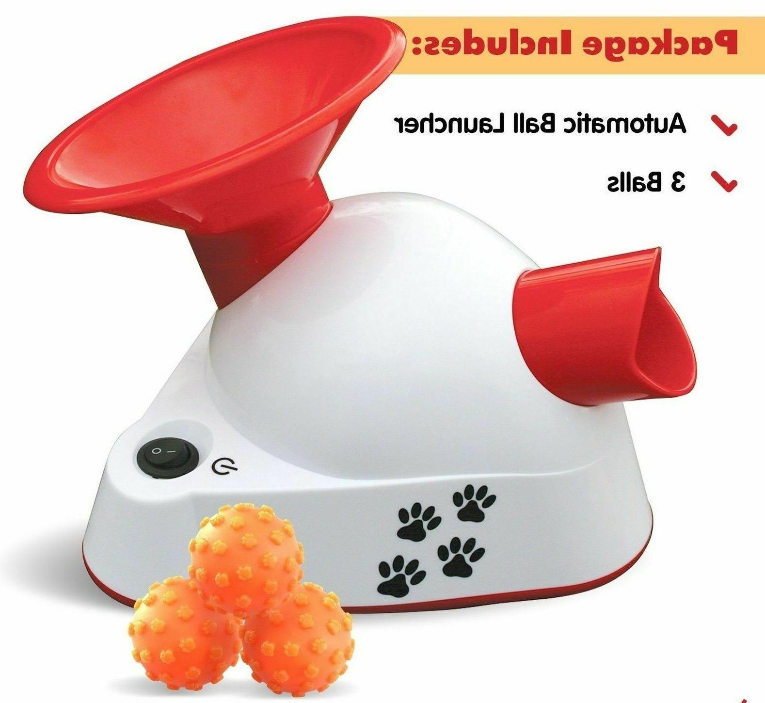 automatic ball launcher dog fetch toy pet