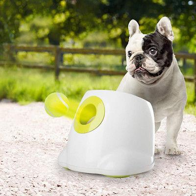 automatic ball launcher dog interactive training toy