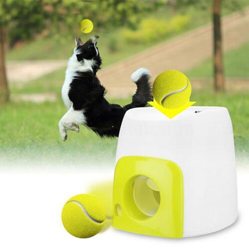 Automatic Pet Dog Launcher Tennis Ball Interactive Fetch Chucker