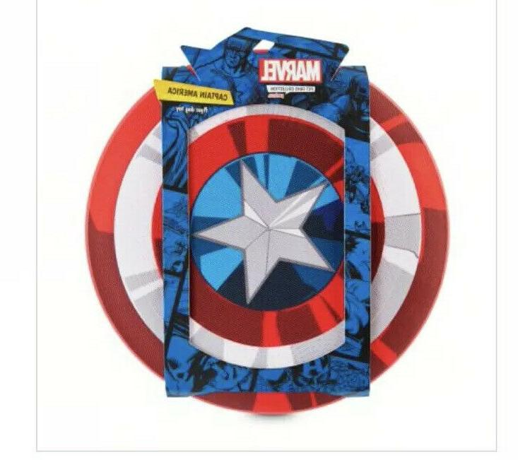 avengers captain america shield flyer dog toy