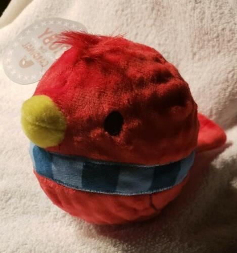 bark ruby cardinal red bird dog chew