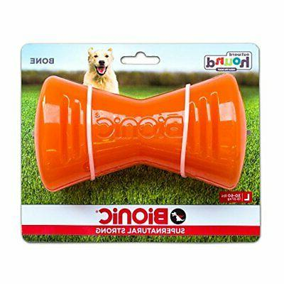 bionic bone orange dog chew