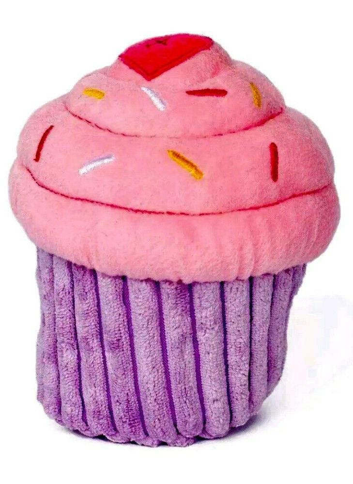 ZippyPaws- Birthday Cupcake, Set, Pink-Free Ship