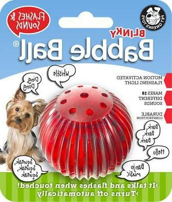 blinky babble ball interactive dog