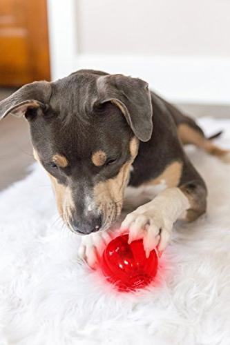 Pet Qwerks Ball Interactive Dog Toy, Flashes Talks Touched