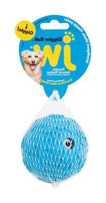 JW Pet  Blue  Giggler Ball  Rubber  Dog Toy  Medium