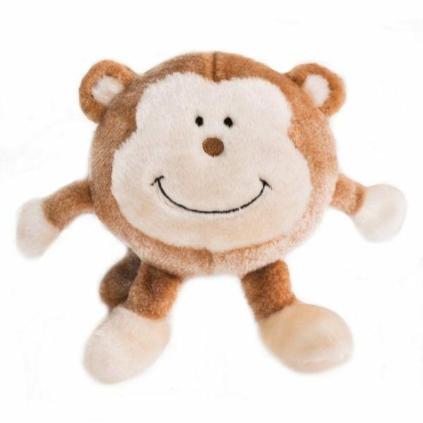 brainey squeaky plush dog toy