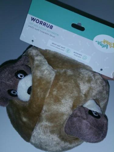 burrow meerkat den squeaky plush interactive dog