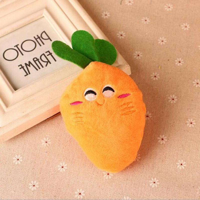 Carrot Plush Cute Sound Squeaky Dog