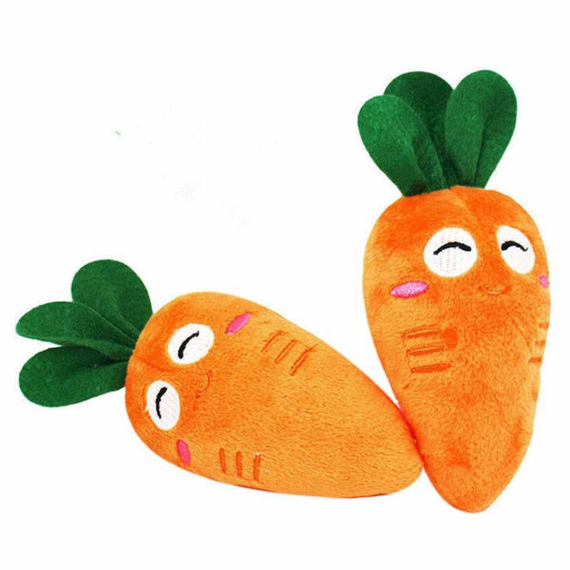 Carrot Plush Sound Dog Toys