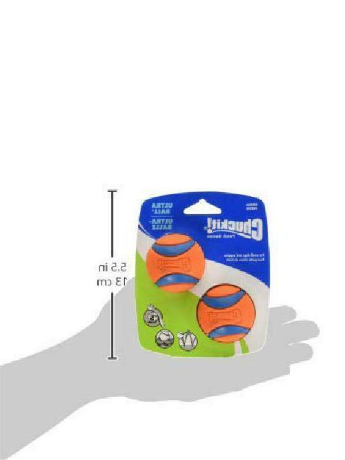 """Chuckit Small Ultra 2"""" 2-Pack To Clean New"""