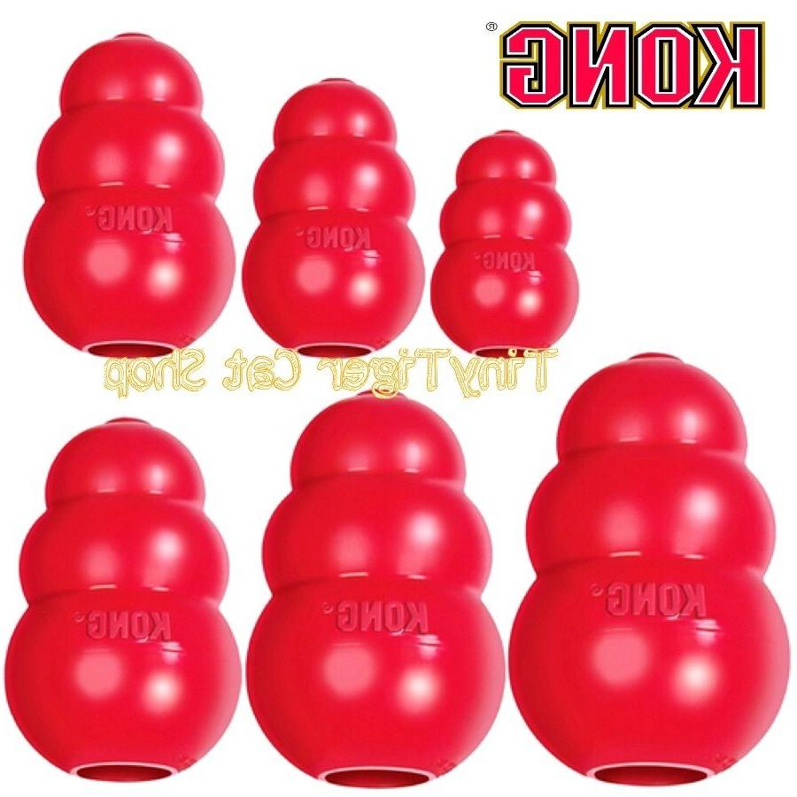 KONG CLASSIC Red Dog Toy treat rubber BRAND NEW Made in USA