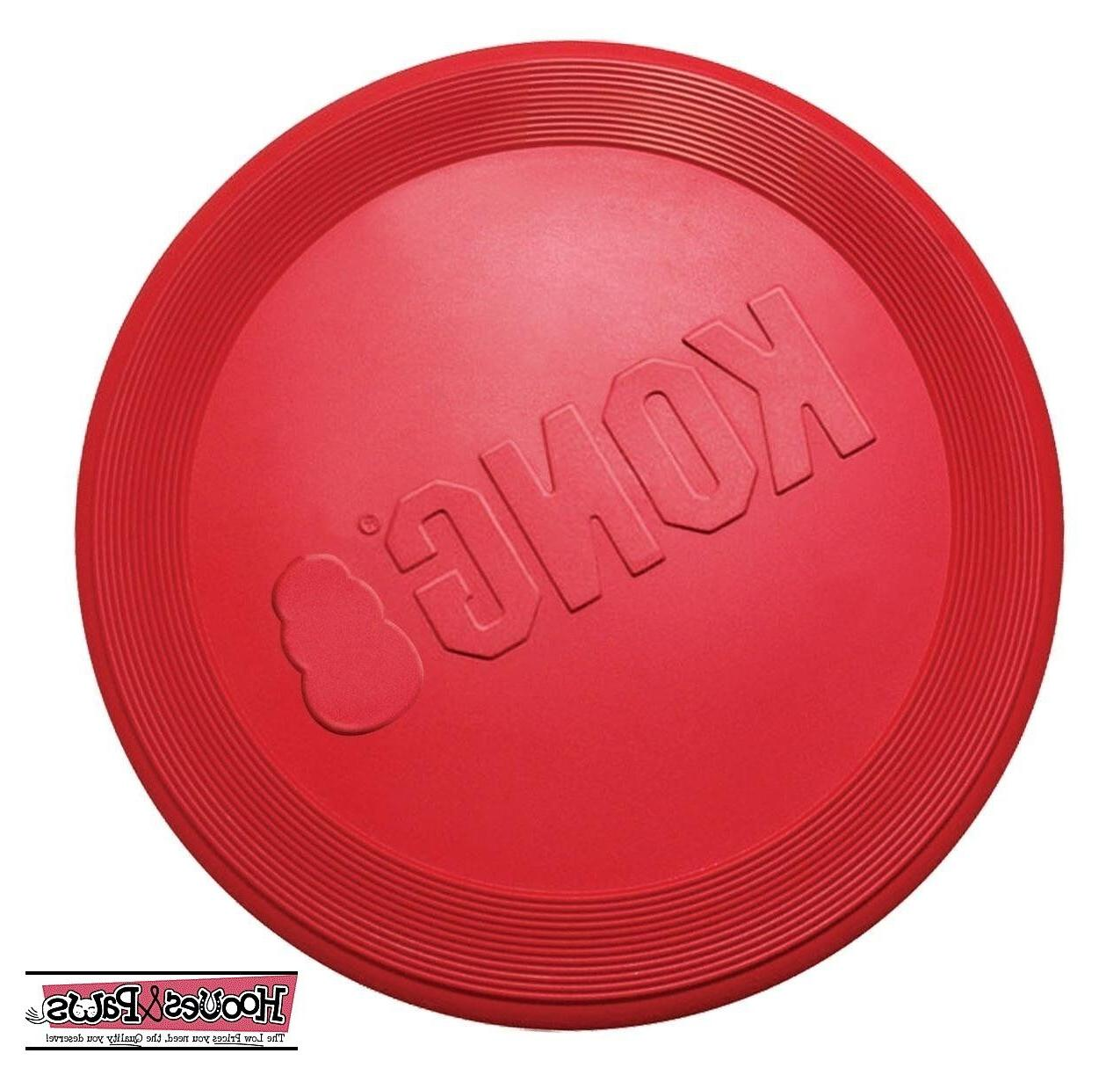 KONG Classic Red Flyer Dog Toy K9 Natural Rubber Frisbee Dis