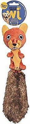 JW Pet Company Crackle Heads Skippy Squirrel Dog Toy, Medium