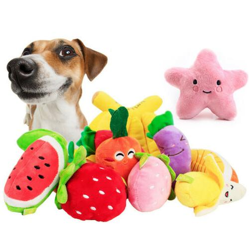 Puppy Pet Dog Cat Funny Plush Chew Squeaker Squeaky Toy Soun