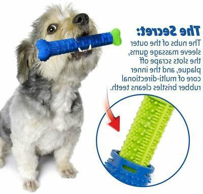 Pet Dog Bone-shape Toothbrush Brushing Chew Toy Stick Teeth