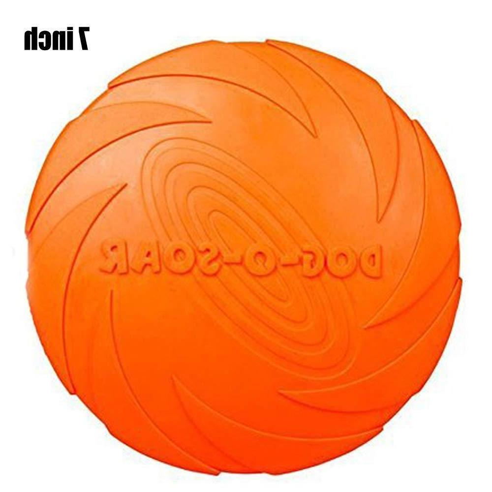 Dog Flyer 7 9 inch Frisbee Large Dog Indestructible Rubber Fly Discs
