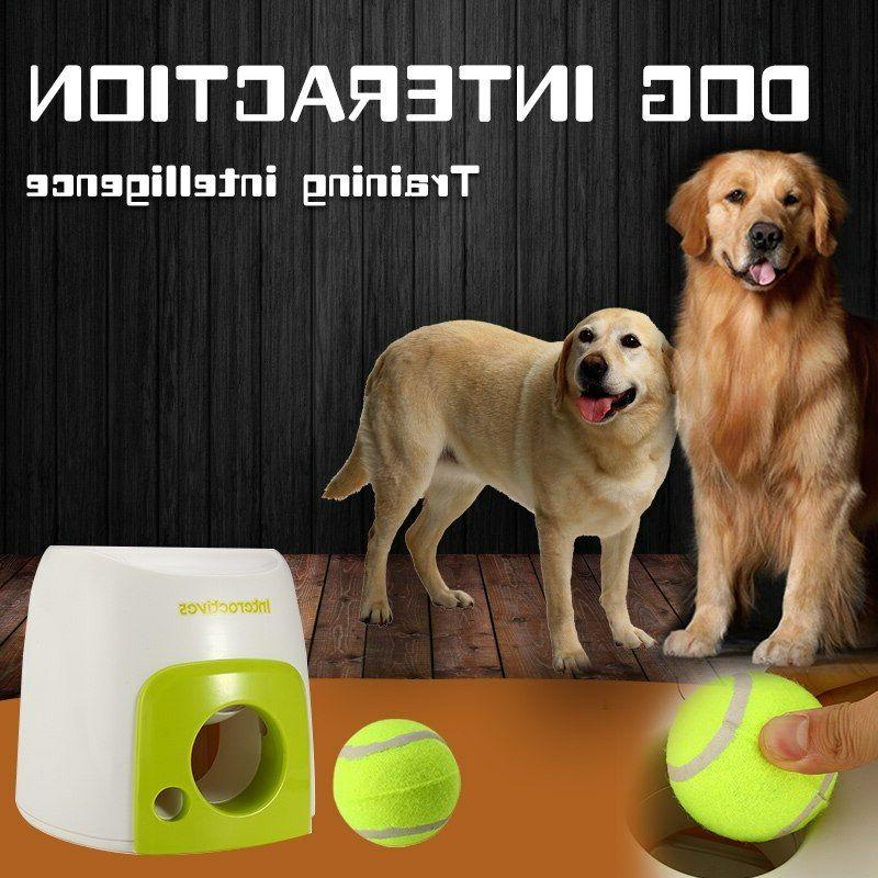 dog pet toys automatic ball launcher interactive