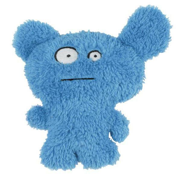 dog plush squeaky toy furzies blue