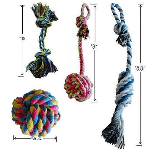 Dog Rope Chew Teething Toys Play Medium Durable