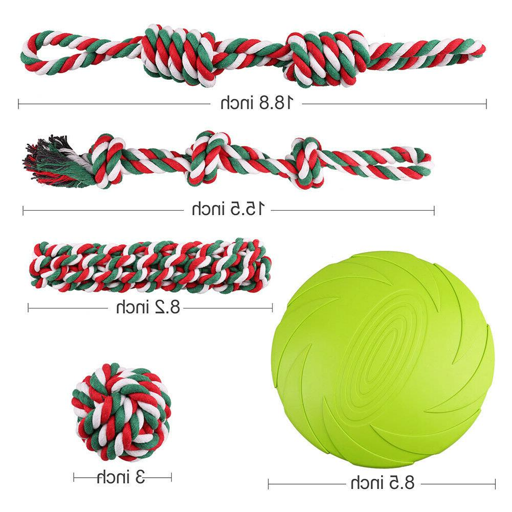 Dog Rope Toys for Aggressive Chewers Teething Pack Set