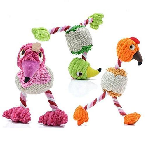 dog squeaky toys walking bird
