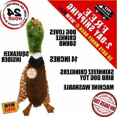 dog toy aggressive indestructible skinneeez crinklers bird