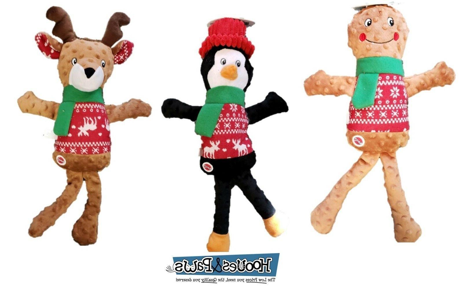 """Dog Toy Ethical Pet Holiday Christmas Sweater Plush 18"""" Toys"""