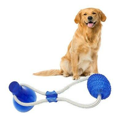 Dog Toy Floor Suction Cup with Ball Cat Teeth Cleaning Chewing Playing