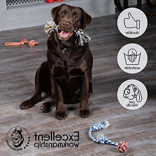 Dog - Chew - Teething Puppy Toys - Rope Dog Toy - Dog - Chew Tug Toy - Dog Toy Set - Cotton
