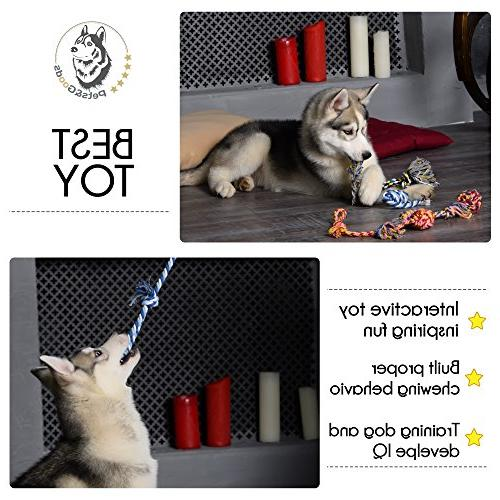 Dog Toys Chew - Teething Toys Rope Toy Toys - - Toys - Dog Toy Pack Tug Cotton Rope for Dogs