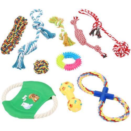 Dog Rope Toys for Aggressive Chewers - Set of 10 Nearly Inde