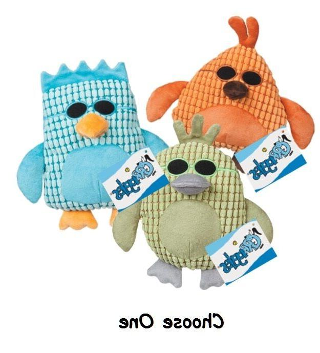 Dog Toys Corduroy Cool Dudes Soft Plush Birds With Sunglasse