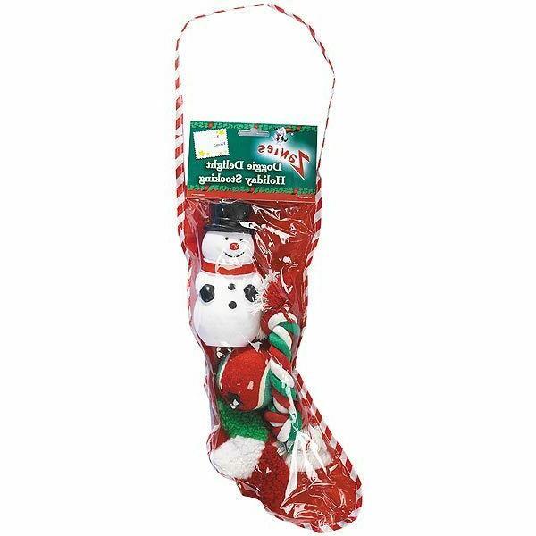 Zanies Doggie Delight Holiday Stockings — Festive Holiday