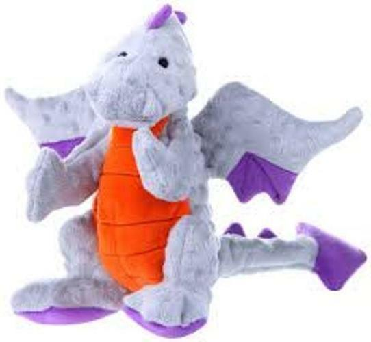 dragons grey large and small dog toy