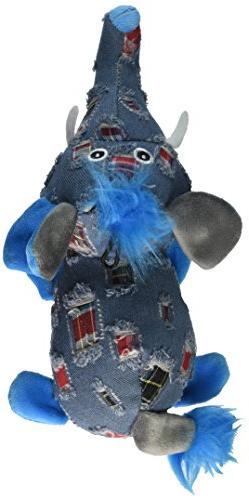 """Multipet Dungaree Dude Elephant Dog Toy, 8.5"""""""