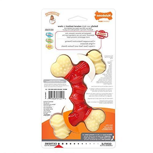 Nylabone Chew Chew Bone, Dog Toy, Medium