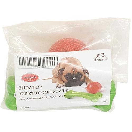 Durable Chew for Aggressive Chewers Set Dog Bone Dog Ball