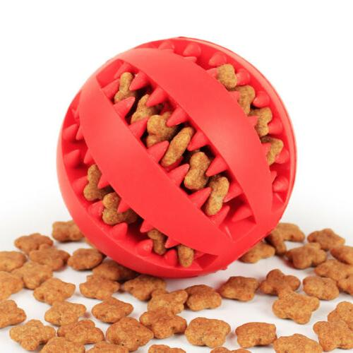 Durable Rubber Ball Chew Pet Teething Dental Treat Clean Toy