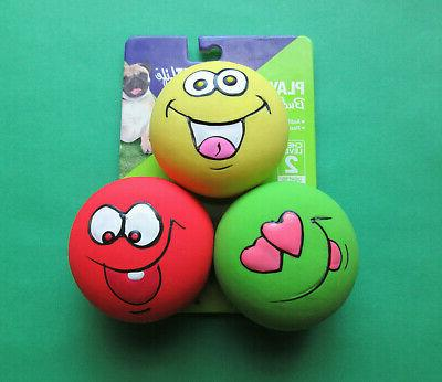 emoticon playful buddy squeak dog toys 3