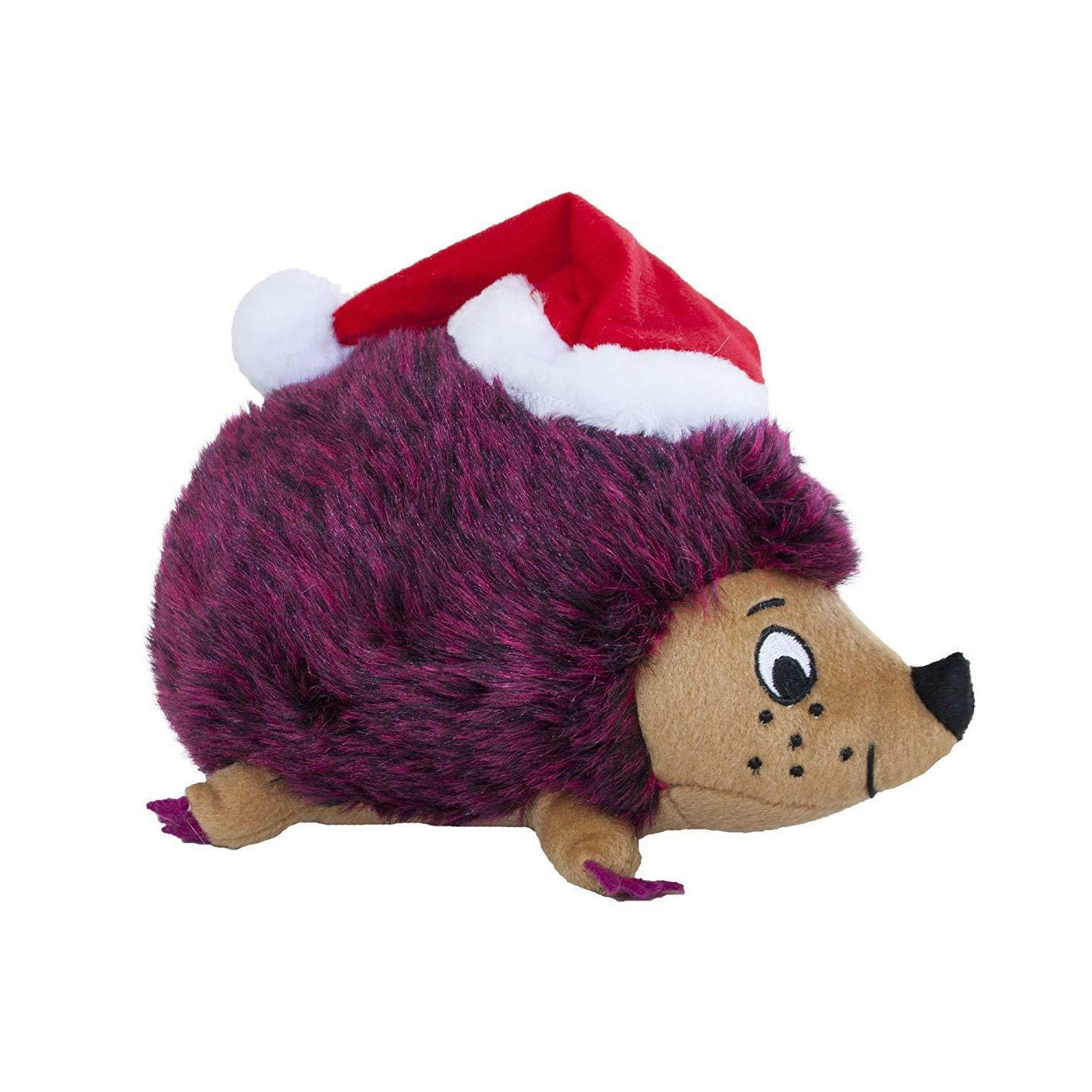 Dog Christmas Santa Hedgehog Outward Hound Pet Holiday Durable Squeaker