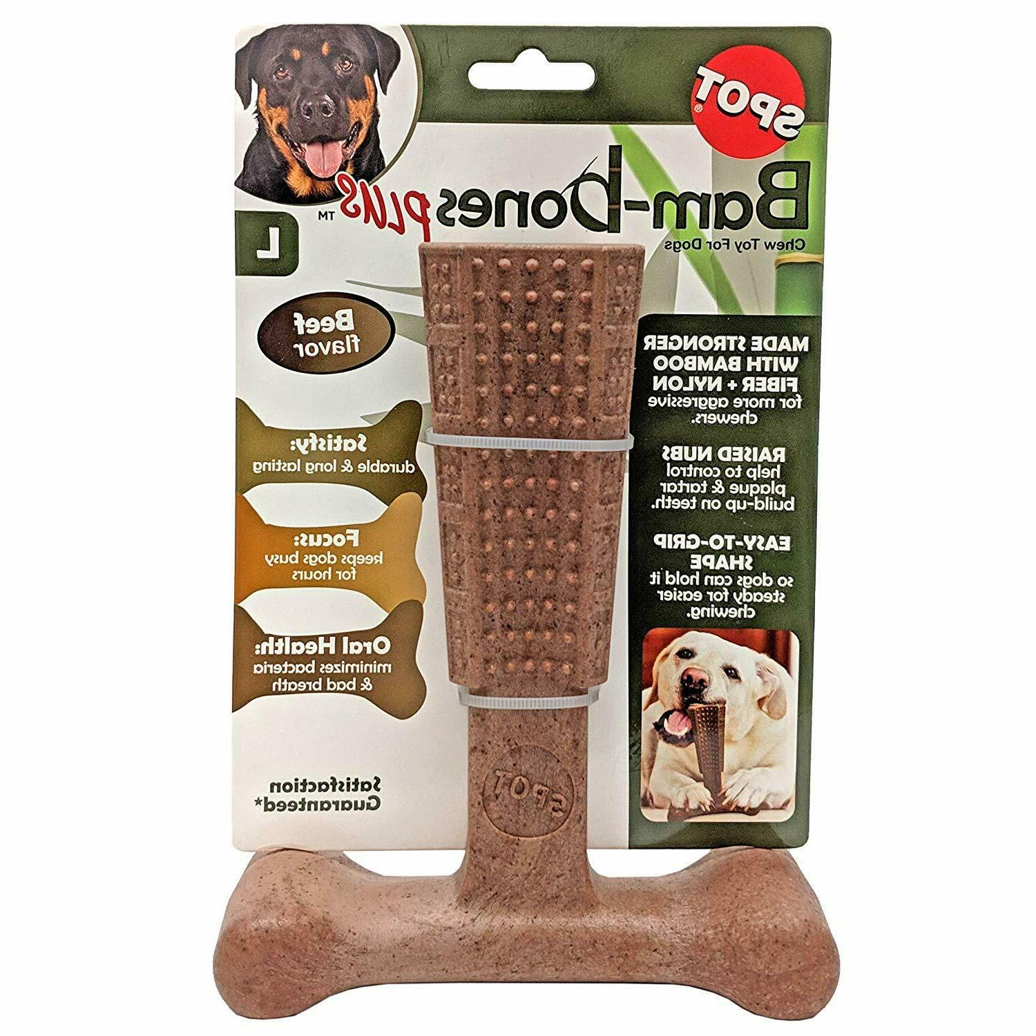 ethical pet bambone plus beef dog toy